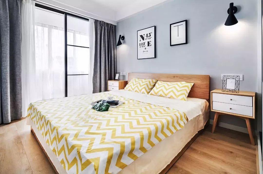 不同风格的卧室窗帘搭配效果图
