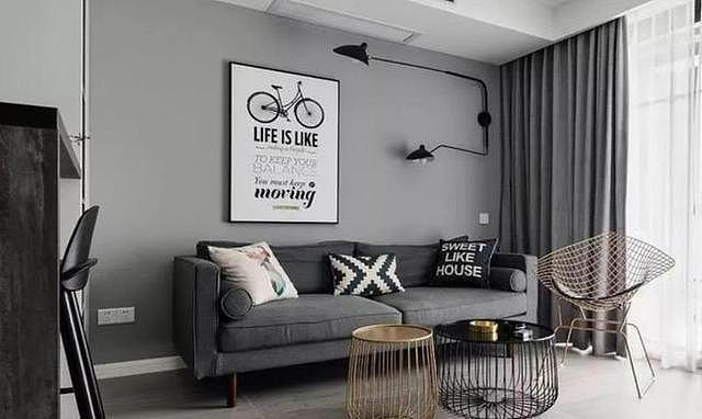 69㎡现代简约风格小三居 打造现代格调家居