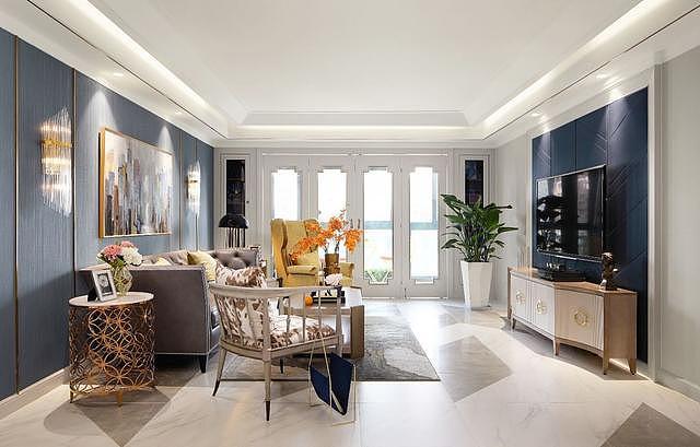 家装高级灰+黄色装修设计 呈现精致温柔奢雅的家居