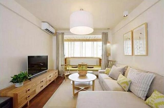 85平米新房装修设计 不做电视背景墙也挺漂亮的