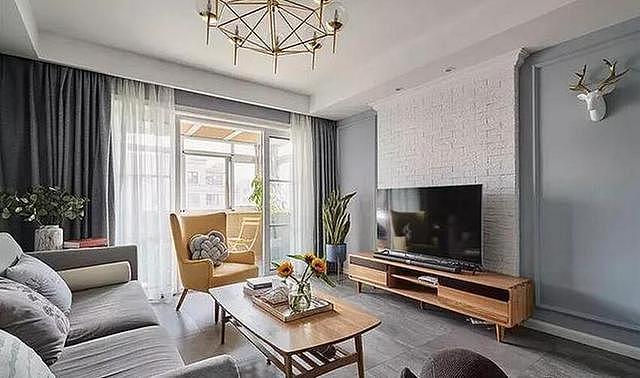 125㎡三居室北欧风家装 打造简单清新自然家居