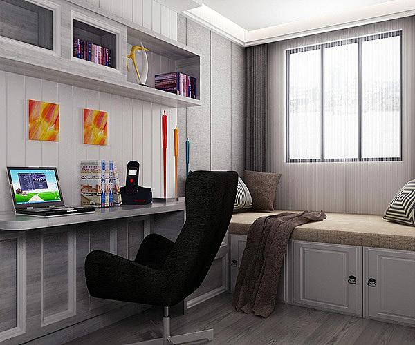 小户型书房怎么设计 卧室隔断做书房装修方案