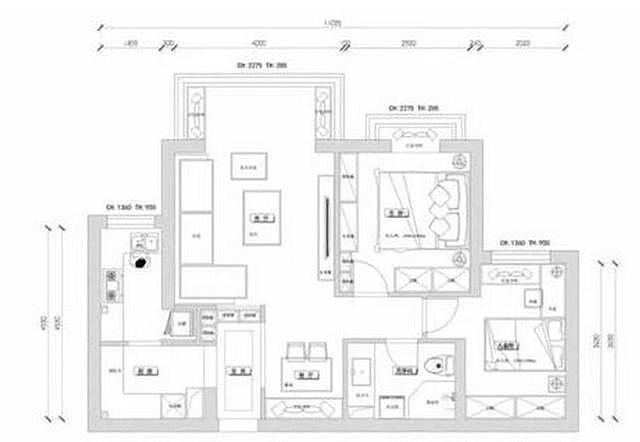 80m²现代简约风两居装修 采用简洁硬装搭配打造温馨舒适的家