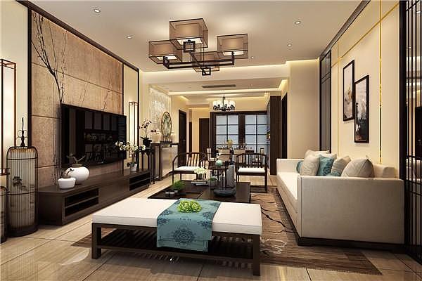 135㎡新中式装修风格案例 古色儒雅与现代时尚的双重合璧