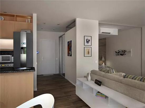 50㎡单身公寓现代简约风装修 打造简单温馨的家居