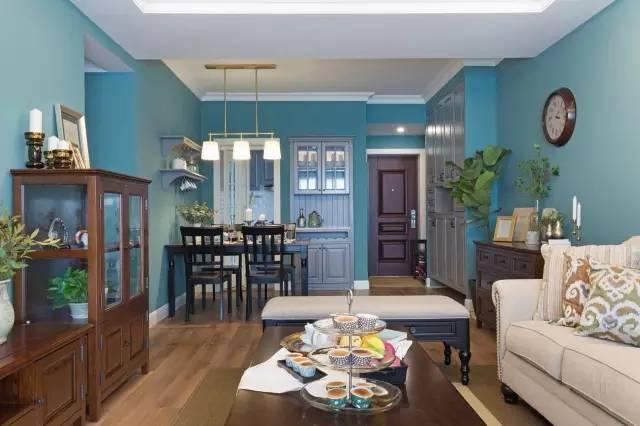 充满逼格的清新新房装修设计 打造蓝绿冷色调温馨家装