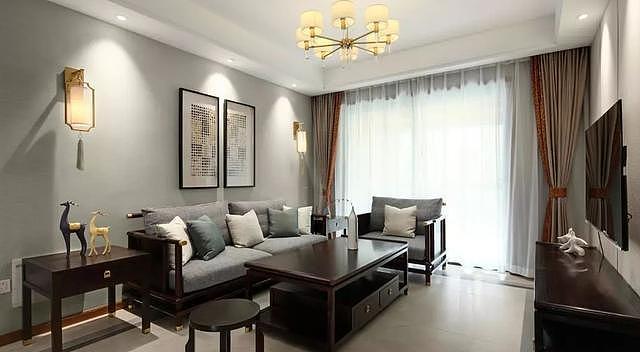 120㎡新房新中式装修设计 打造简约有质感的家装