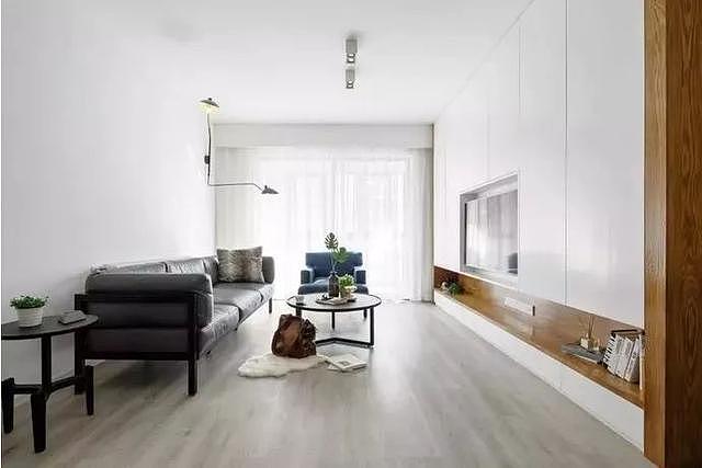 灰色调木地板装修效果图 很适合小户型