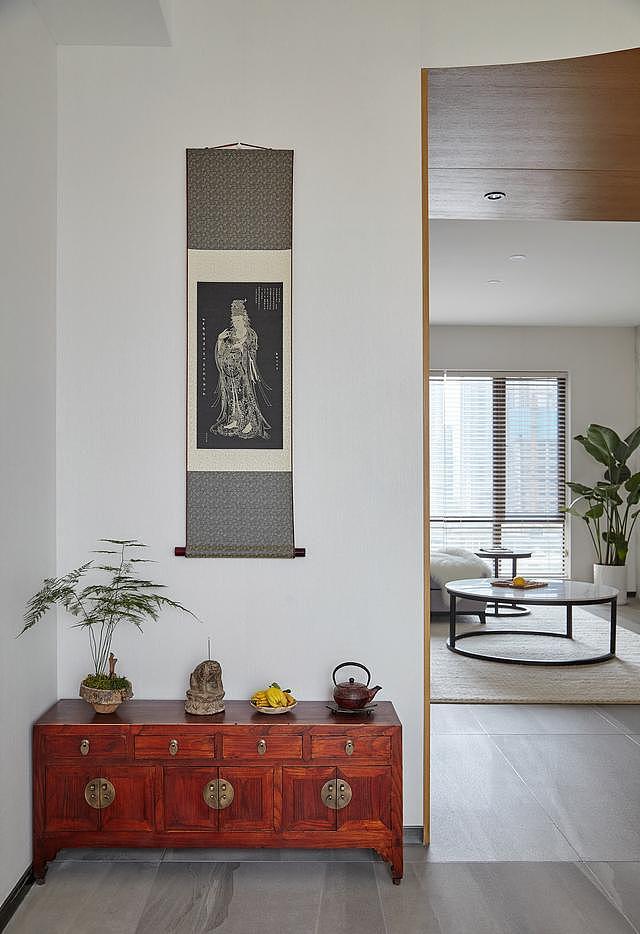 小姐姐的现代简约风格新房 玄关就文艺满满