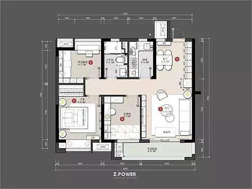 89平现代简约三居室 为收纳设计点赞