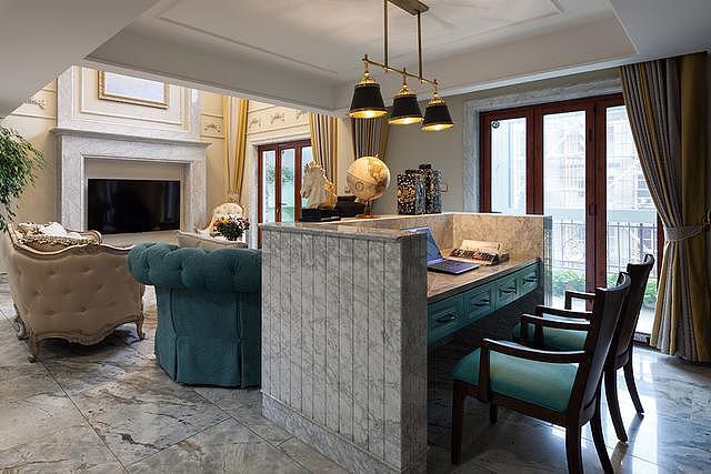 260㎡别墅装修设计 欣赏蒂芙尼蓝之美