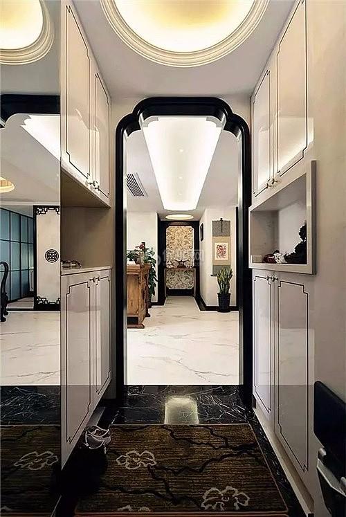 装修学堂 学装修 装修风格 中式风格 110平米现代中式 设计决定住房的图片