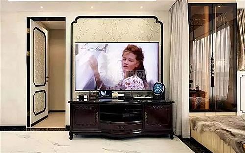 中式风格 110平米现代中式 设计决定住房的面积          玄关进门图片
