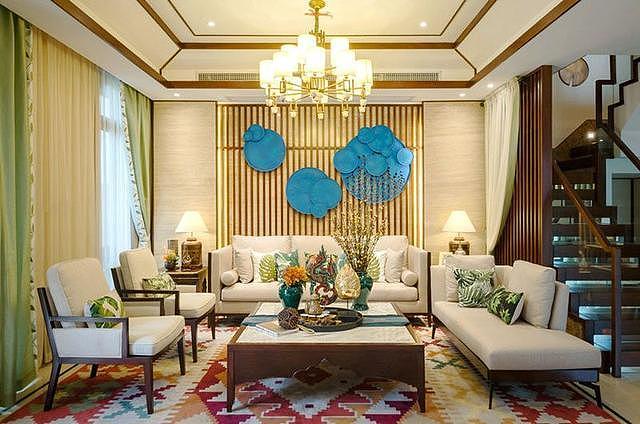 300平米别墅完工东南亚风格设计 真的被惊艳到了~