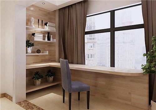阳台变书房装修效果图 阳台与书房的巧妙转换
