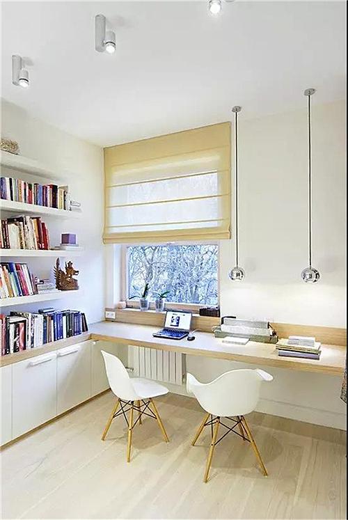 窗前空间设计样式鉴赏        没有什么地方,比窗前,更适合安置书桌了