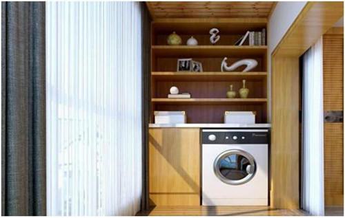 洗衣机柜子机柜感受效果图装修精美的设计阳台洗衣纸杯图数控加工图片
