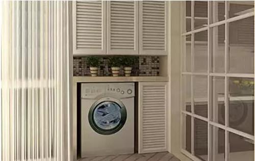 洗衣机柜子图纸感受效果图装修精美的施工细部洗衣机柜设计阳台教学楼图片