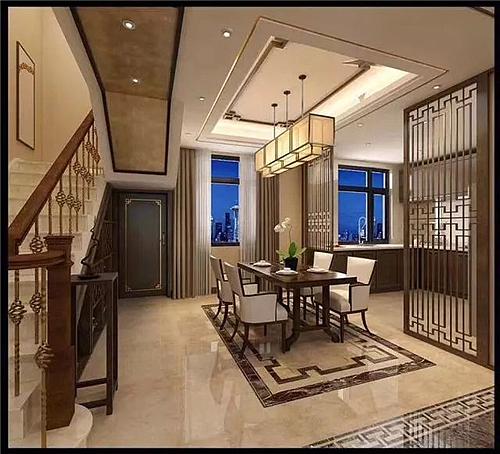 240平方别墅装修 大气时尚的新中式设计