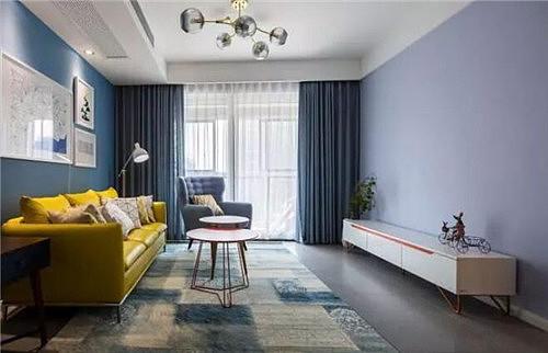 简约装修风格效果图 清爽舒适的96平温馨之家