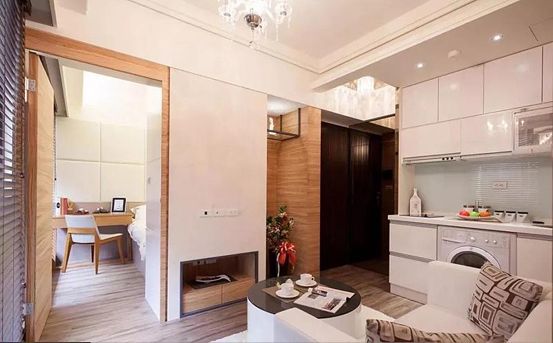 40平小户型竟能装出两室一厅 隐形门设计真是绝了!