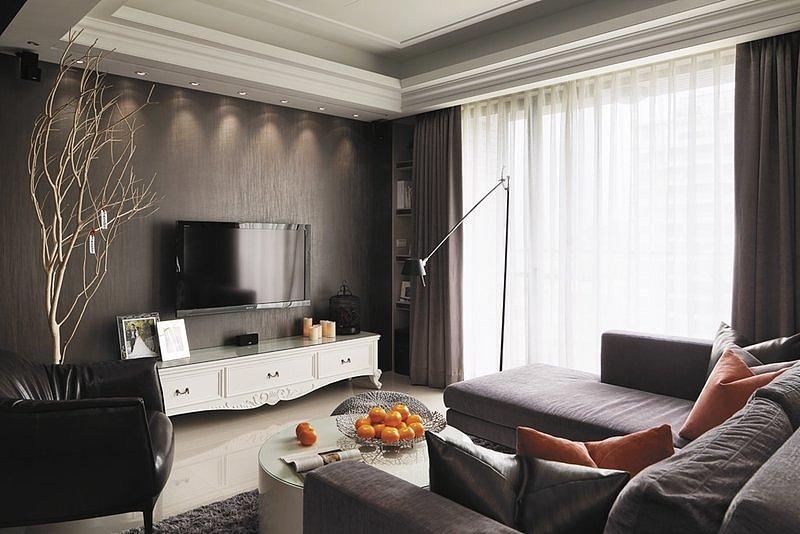 127平米现代简约风格三居室 预算10万!