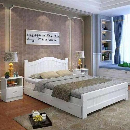 背景墙 床 房间 家居 家具 设计 卧室 卧室装修 现代 装修 500_499