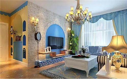 两室一厅的装修效果图 带你感受浪漫的地中海风情