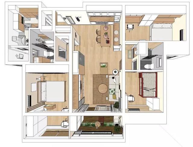 110㎡三房兩廳北歐風裝修 全屋裝修漂亮極了