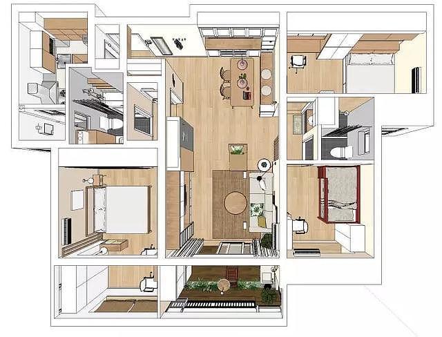 110㎡三房两厅北欧风装修 全屋装修漂亮极了