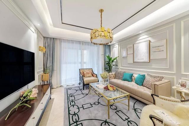 136平美式轻奢风新房装修 全屋设计的非常优雅舒适