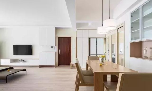 114㎡三居室简约风新房设计 营造出一个文艺自然的家居感觉