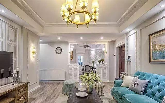 邻居家115㎡美式新房装修 打造温馨淡雅精致的家装
