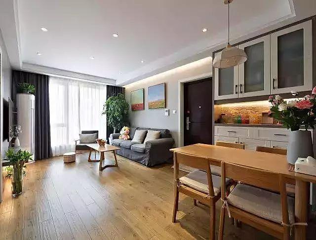 88㎡三居室现代简约风装修 宜家舒适的家装设计