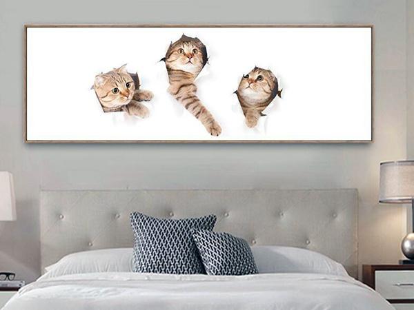 床头挂什么画最吉祥 卧室画挂床头还是床尾