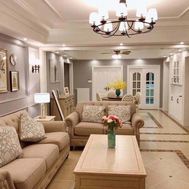 新房美式风装修设计 全屋色彩搭配温馨舒适