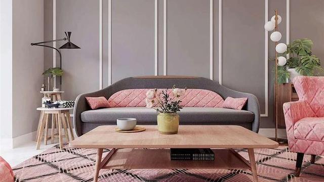 小户型样板间装修设计 粉色系颜色搭配充满少女心