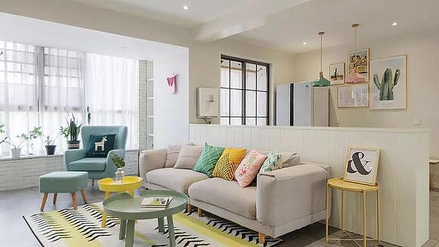 充满清新格调的小户型装修 采用马卡龙色系打造精致家装