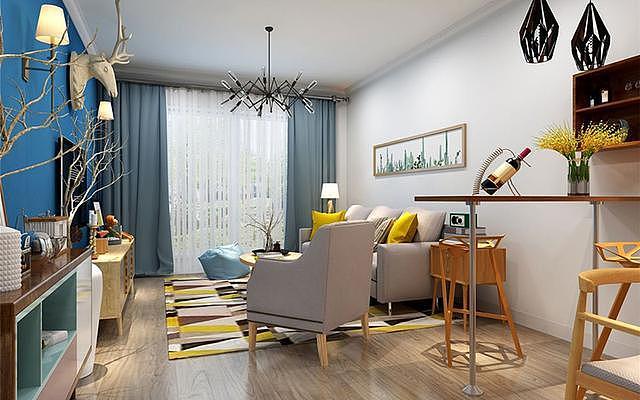 65㎡小户型简约风装修设计 打造清爽干净的家居生活