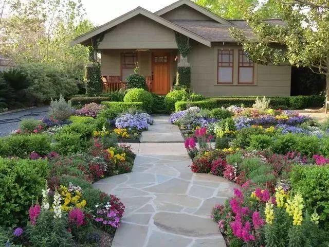 20款乡村庭院设计实景图 庭院不一定非得别墅才能拥有的