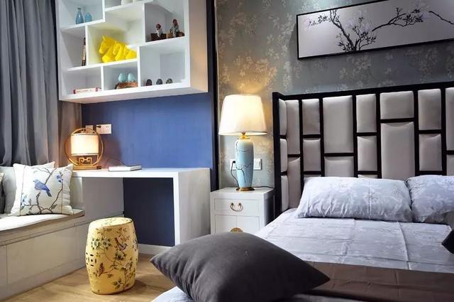 50㎡单身公寓,装新中式的小户型