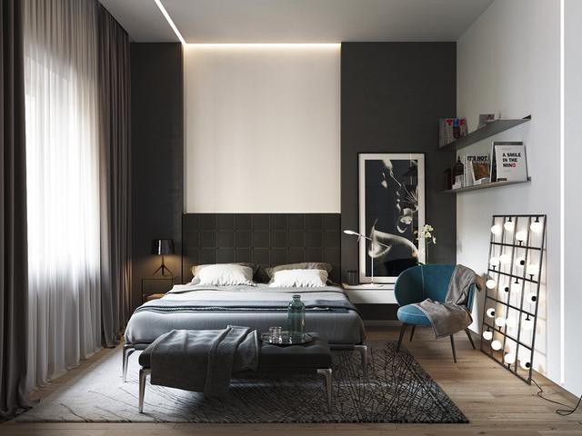 单色是一种趋势 20款漂亮的黑白色调卧室设计