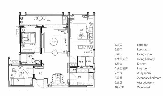 96㎡现代中式,浪漫又好看的新中式蓝,端庄又华丽