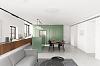 家装中见惯了灰白配色,加上点儿绿,居室立马充满艺术感