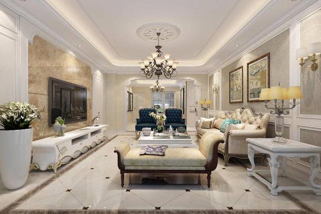 客厅欧式装修效果图 时尚3步铸造欧式贵族范儿空间