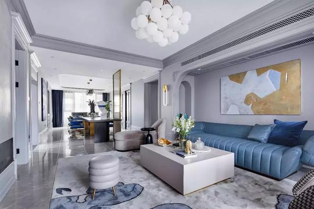 210㎡现代轻奢风新房装修 打造优雅轻奢的家装