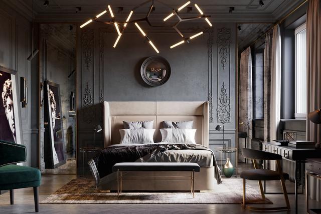高端大气的卧室设计方案 40款任选其一都酷呆了