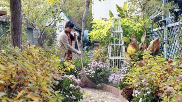 夫妻二人买900㎡地 700㎡做花园惬意生活?#20204;?#19975;人羡慕