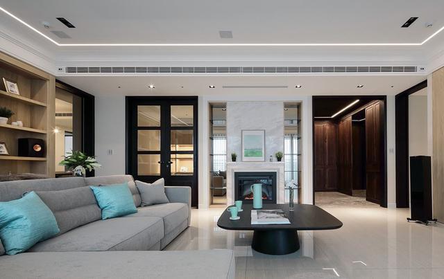 280㎡新房休闲多元风装修设计 打造三代同堂双拼清丽质韵大宅
