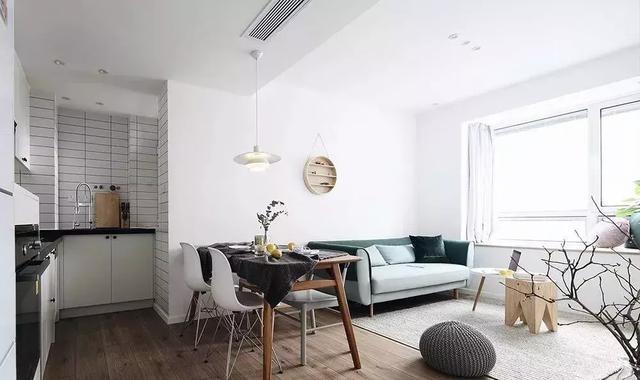 80平米小户型新房装修 打造简约清爽的北欧风